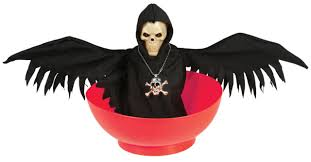 halloween animated halloween animated skull with wings bowl party accessory fancy