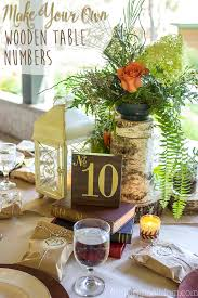 table numbers with pictures diy wood table numbers for a wedding unoriginal mom