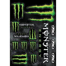 monster motocross gloves factory effex monster energy sticker sheet 17 68020 fortnine