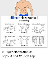 Bench Pressing With Dumbbells Ultimate Chest Workout Ofactsoftraining Barbell Bench Press