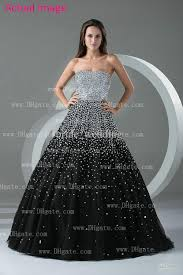 black and white quinceanera dresses silver and black sequin beaded strapless quinceanera dresses