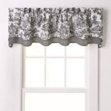 Toile Cafe Curtains Toile Curtain Valance Blk Blue Or Pink Toile By Nancyslinens