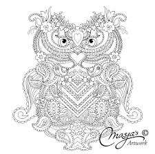 mijn wonderlijk wereld owl zentangle coloring pages colouring