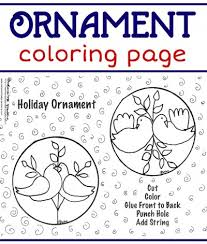 holiday ornament coloring
