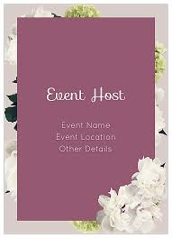 Invite Card Maker Easy To Use White Flowers Invitation Card Design Templates
