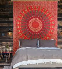 Where To Get Cheap Tapestry Mandala Print Red Tapestry Online Handicrunch Com