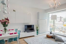 Feminine Living Room A White Apartment With Feminine Colourful Accents Inspirationist