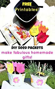 flower seed packets garden of and flowers flower seed packet craft diy gift
