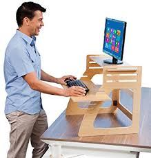 standing computer desk amazon amazon com well desk adjustable standing desk riser simple and