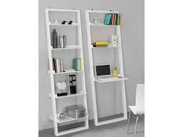 Leaning Ladder Desk by White Leaning Bookcase Elegant Furniture Design