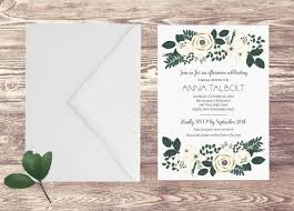 engagement brunch invitations printed bridal shower invitation with ivory flowers rehersal