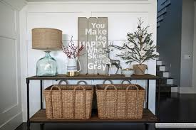 neutral christmas console table the sunny side up blog