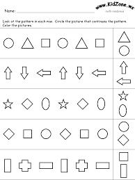 pattern math worksheets preschool grade kindergarten worksheets math readiness worksheet jen