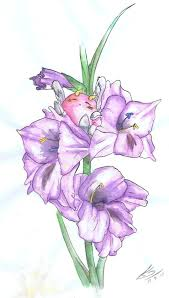 20 nice gladiolus flower tattoos sketches golfian com