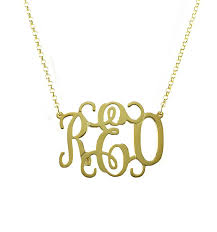 script monogram necklace oval vine script monogram necklace be monogrammed