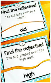 adjectives task card puzzles free these adjectives task cards