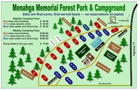 Forest Park Map Memorial Forest Park U0026 Campground City Of Menahga