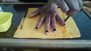 how to make zebra palm printing easy way to make zebra with palm