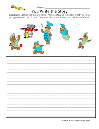 narrative writing worksheets for kids have fun teaching