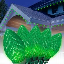ecosmart 200 led icicle lights holiday time led c9 super bright light set green wire cool white