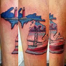 43 spectacular state of michigan tattoos mackinac bridge tattoo
