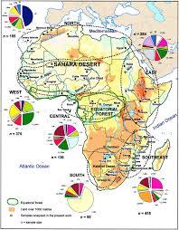 Africa Population Map by Mathilda U0027s Anthropology Blog Just Another Wordpress Com Weblog