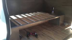 in detail van build the bed youtube