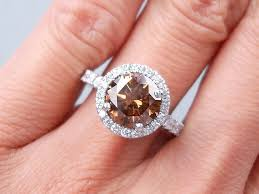 Chocolate Diamond Wedding Rings by 3 11 Ctw Round Cut Diamond Engagement Ring Natural Chocolate Si1