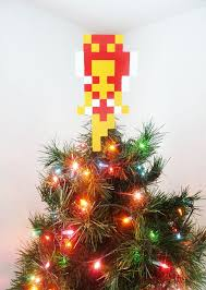 Christmas Decorations Fairy Tree Topper by Zelda Fairy Perler Bead Christmas Tree Topper By Lightercases
