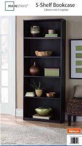 mainstays 5 shelf bookcase instructions for pictures