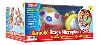 light up karaoke machine karaoke machine for kids sing along includes 2 microphones disco