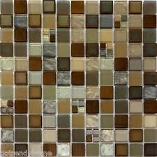 sample copper insert metallic glass mosaic tile kitchen