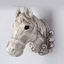 modern brief wall lights resin horse head wall lamp for home
