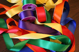 colorful ribbon ribbon reading twisted willows