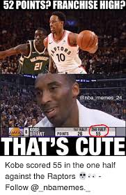 Nba Meme - 52 pointsp franchise high oto memes 24 kobe bryant 1st half 2nd hal