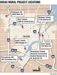 Toledo Ohio Map by Degas Exhibit Leaves Mark Across Toledo The Blade
