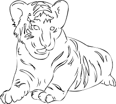 coloring pages of tigers cute tiger coloring pages mother day drawings kids tigger 9225