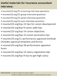 top 8 insurance accountant resume samples