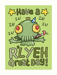 cthulhu birthday card