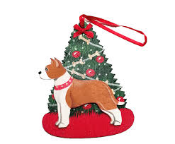 american staffordshire terrier ornaments for the