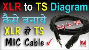 how to make xlr jack to ts pin cable wire for mic joining in