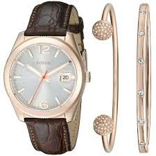 bracelet watches fossil images Shop fossil woman 39 s perfect boyfriend three hand leather watch and jpg