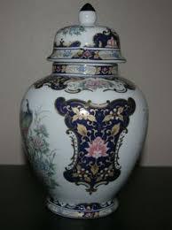 Toyo Vase Japanese Toyo Decorative Vase Peacock Design By Mariehuddleston