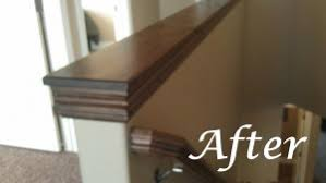 Wall Banister Easy Diy Custom Finishes To Your Handrail Or Half Wall How To