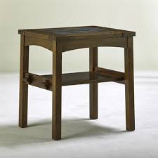 stickley and audi contemporary gustav stickley style tile top side table by stickley