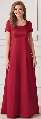 scoop neck modest chorale concert dresses