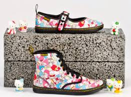dr martens sanrio kitty combat boots