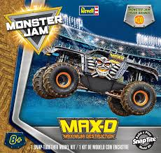 pictures of monster jam trucks amazon com revell snaptite build and play monster jam max d model
