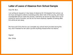 5 absence letter format addressing letter