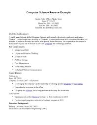 internship resume exle computer science degree resume salaries sales computer science